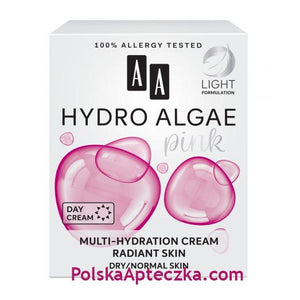 AA Oceanic, HYDRO ALGAE pink, Moisturizing and Correcting Cream, 50ml