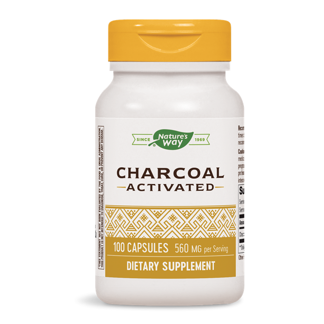 Charcoal Activated 560mg, 100 capsules