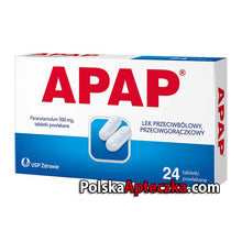 Load image into Gallery viewer, APAP Paracetamol 500mg tabletki powlekane 24 tebletek