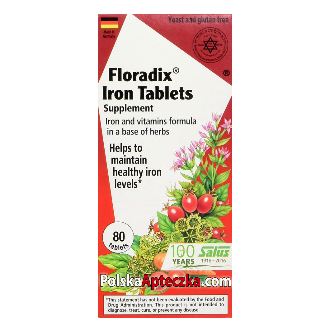 Floradix Iron 80 tablets