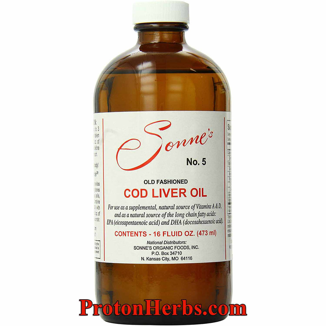 Sonne's Old Fashioned Cod Liver Oil, 473ml