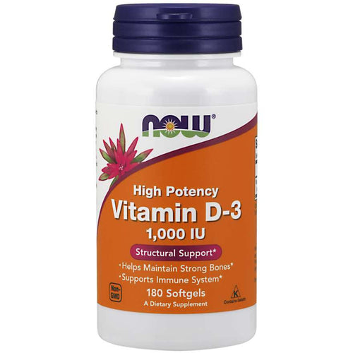 Vitamin D-3 1,000 IU 180 Softgels