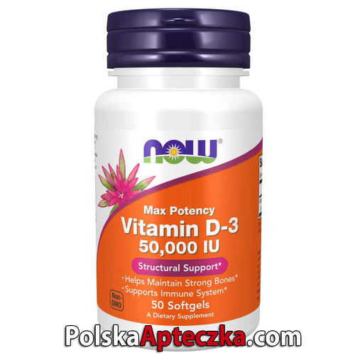 Vitamin D-3 50,000 IU, 50 Softgels