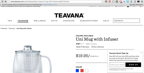Uni Mug featured on Teavana