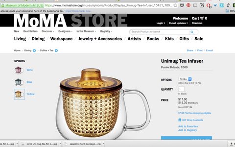 Featured on MOMA modern art museum store