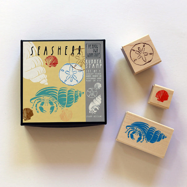 Ocean sea shell stamp DIY activity set