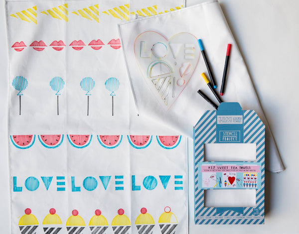 DIY Sweet Tea Towel kit by Yellow Owl Workshop