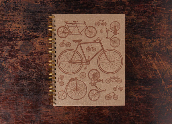 Bison Bookbinding & Letterpress Note Book: Bike Collage