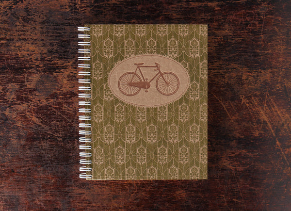 Bison Bookbinding and Letterpress Note Book: Solo Bike