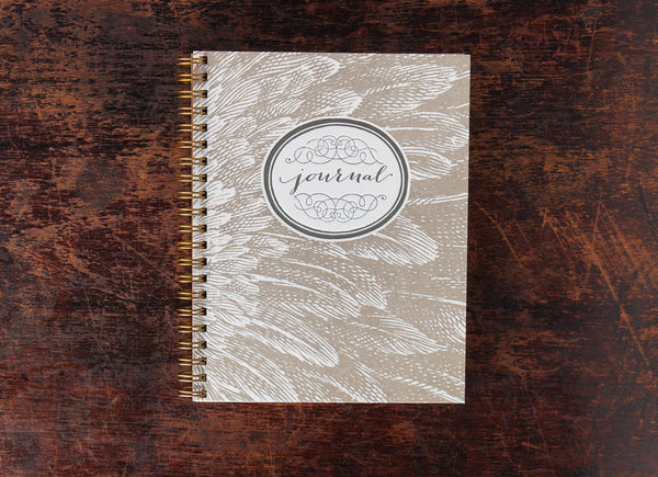 Bison Bookbinding & Letterpress Note Book: Hawk Feathers