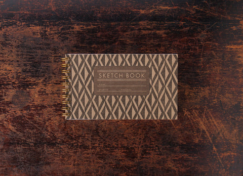 Bison Bookbinding & Letterpress Mini Sketch Book: Mini Diamonds