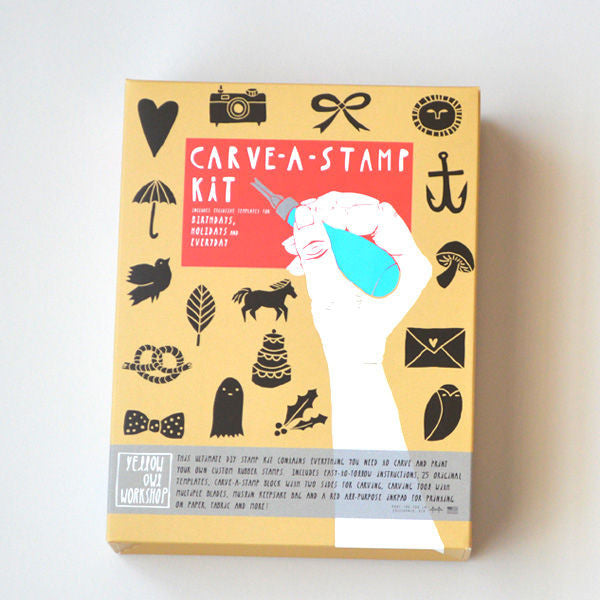 CARVE-A-STAMP KIT DIY Make Your Own Stamp DIY Craft Activity Kit