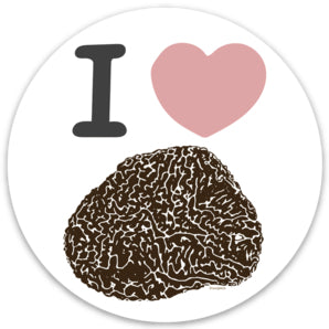 I Heart Truffle Gourmet Foodie Stickers