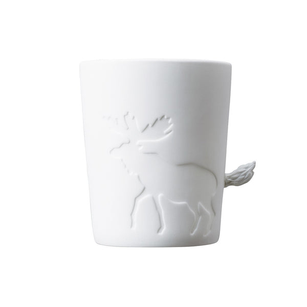 Kinto moose caribou mugtail cup candle light holder fairy tale animal kingdom