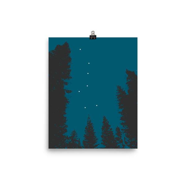 Mount Lassen Volcanic National Park Poster Summer Big Dipper Star Gazing