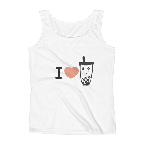 I love boba I heart boba Ladies' Tank