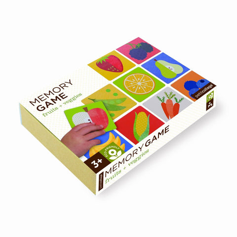 Puzzle Memory Game Fruits & Veggies by Petit Collage educational toy puzzle for kids toddlers
