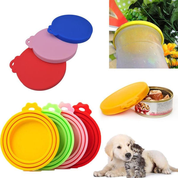 Pet Food Can Cover Lid  one-size-fits-all reusable