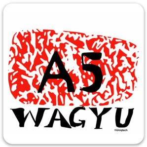 Wagyu Japanese Beef Foodie Sticker (square)