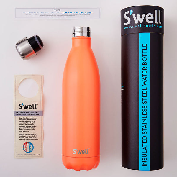 S'well Bottle Birds of Paradise Medium 17 oz  Satin Collection Water Bottle