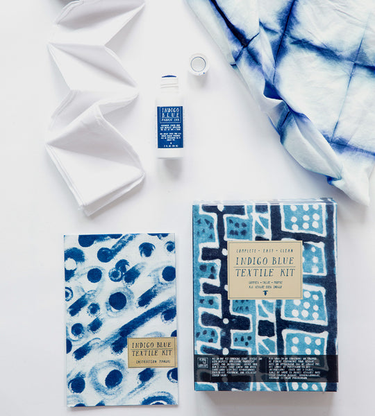 Indigo Blue Textile Kit DIY dye starter by Yellow Owl Workshop