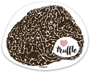 I Love Truffle Gourmet Foodie Stickers