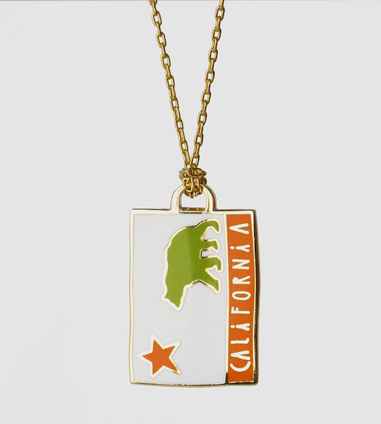 California Flag Pendant necklace by Yellow Owl Workshop