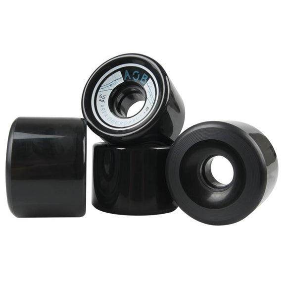AOB - Straight 65mm wheels Black/Blue  Wheels Gravity House  Longboard UK Skate store in south devon, Downhill skating shop online free shipping Arbor, Omen, Slide Perfect, Cuei, Landyatchz, Paris trucks