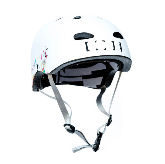CODE - White Team Helmet Halfshell  protection Gravity House  Longboard UK Skate store in south devon, Downhill skating shop online free shipping Arbor, Omen, Slide Perfect, Cuei, Landyatchz, Paris trucks