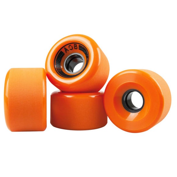 AOB - Banshee 70mm wheels Orange/Blue/Black 83a  Wheels Gravity House  Longboard UK Skate store in south devon, Downhill skating shop online free shipping Arbor, Omen, Slide Perfect, Cuei, Landyatchz, Paris trucks