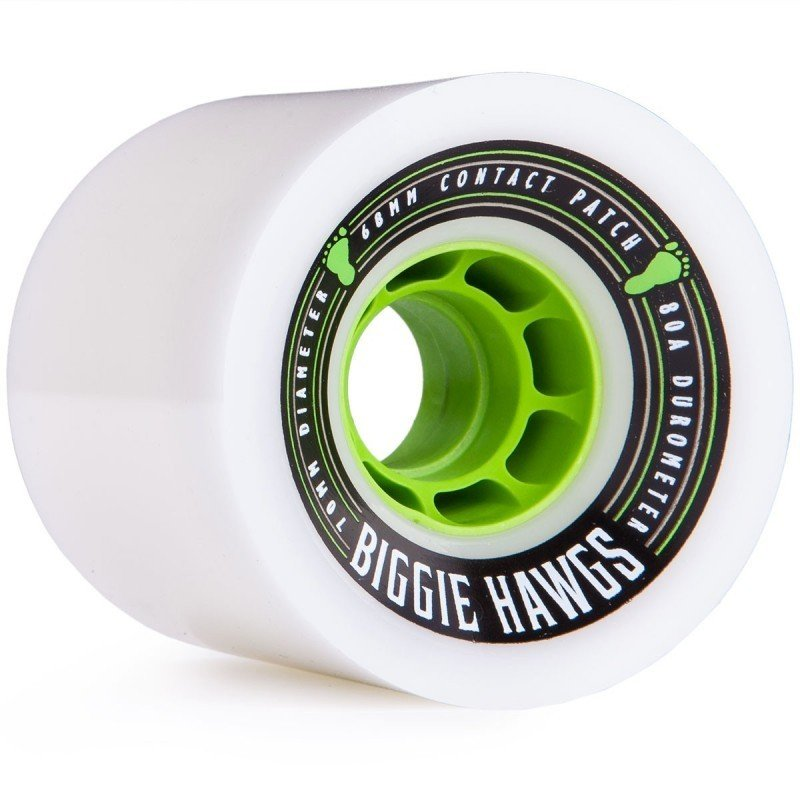 Hawgs - FSU Biggie Race Wheels White  Wheels Gravity House  Longboard UK Skate store in south devon, Downhill skating shop online free shipping Arbor, Omen, Slide Perfect, Cuei, Landyatchz, Paris trucks