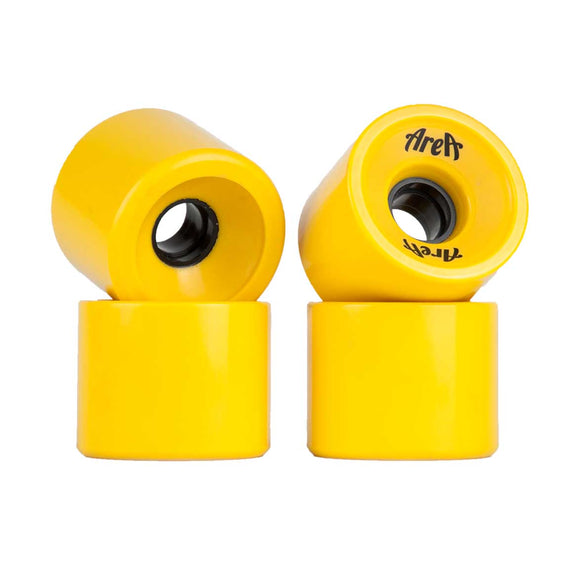 Area - Yellow 70mm Wheels  Wheels Gravity House  Longboard UK Skate store in south devon, Downhill skating shop online free shipping Arbor, Omen, Slide Perfect, Cuei, Landyatchz, Paris trucks