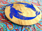 Bamboo Lazy Susan (Limited Edition) - Mandala Fish - mandala rasa - bohemian lifestyle - mandala - home decor - clothing - yoga - activewear