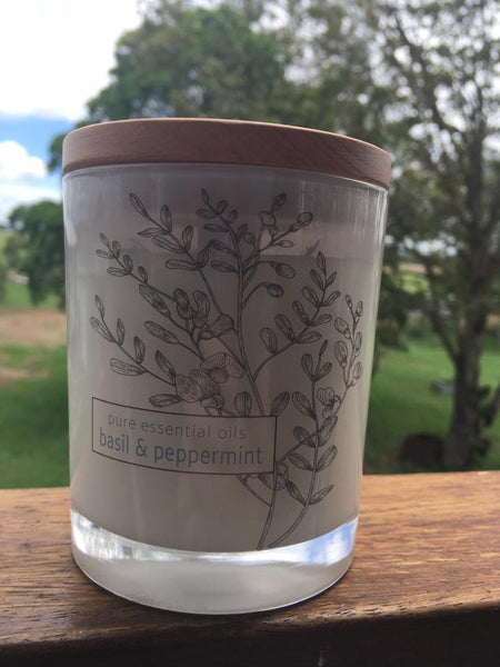 Natural Soy Candle - Basil & Peppermint