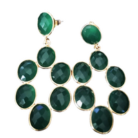 Gemstone fashion earrings - Forest Leaves