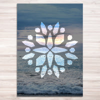Crystal Beach Print - mandala rasa - bohemian lifestyle - mandala - home decor - clothing - yoga - activewear