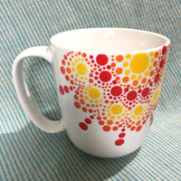 Cup with Dotwork - mandala rasa - bohemian lifestyle - mandala - home decor - clothing - yoga - activewear