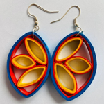 Paper Filigree Earrings - Frangipani
