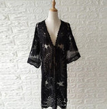 Embroidered Lace Kimono - 2 Colours