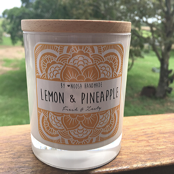 Natural Soy Candle - Lemon & Pineapple