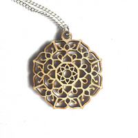 Mandala Necklace - Manifest - mandala rasa - bohemian lifestyle - mandala - home decor - clothing - yoga - activewear