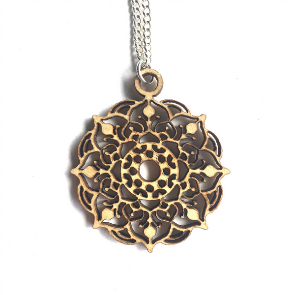 Mandala Necklace - Mystic - mandala rasa - bohemian lifestyle - mandala - home decor - clothing - yoga - activewear