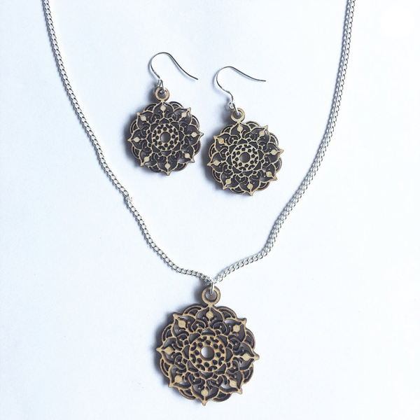 Mandala Necklace & Earrings Set - Mystic