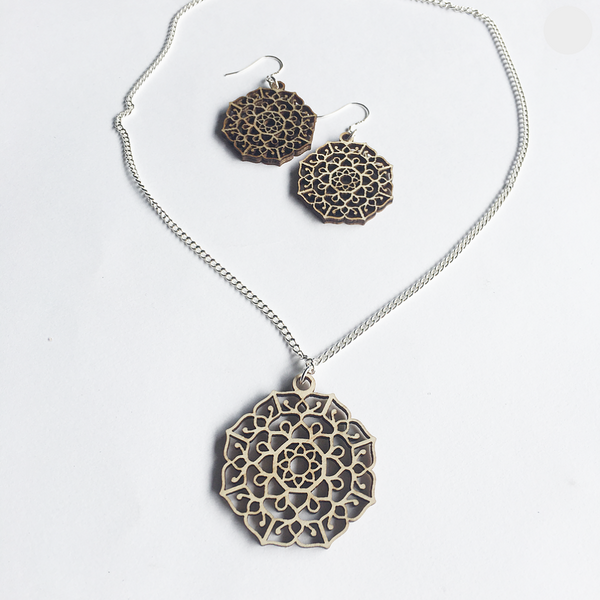 Mandala Necklace & Earrings Set - Manifest
