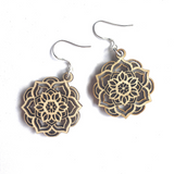 Mandala Earrings - Lotus - mandala rasa - bohemian lifestyle - mandala - home decor - clothing - yoga - activewear