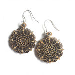 Mandala Earrings - Mystic - mandala rasa - bohemian lifestyle - mandala - home decor - clothing - yoga - activewear
