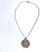 Mandala Necklace - Lotus - mandala rasa - bohemian lifestyle - mandala - home decor - clothing - yoga - activewear