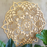 Wooden Mandala - Devi - mandala rasa - bohemian lifestyle - mandala - home decor - clothing - yoga - activewear