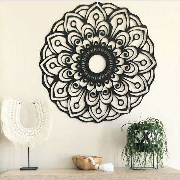 Wooden Mandala - Asha - mandala rasa - bohemian lifestyle - mandala - home decor - clothing - yoga - activewear