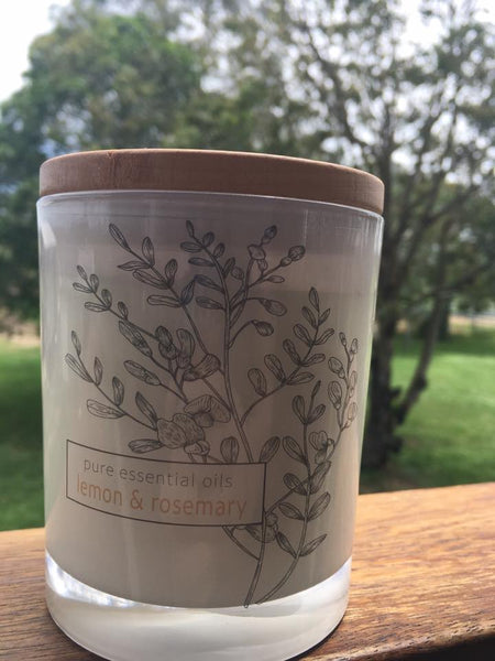 Natural Soy Candle - Lemon & Rosemary